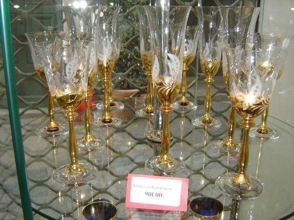 Verres en cristal de boheme - Prix verre en cristal ...